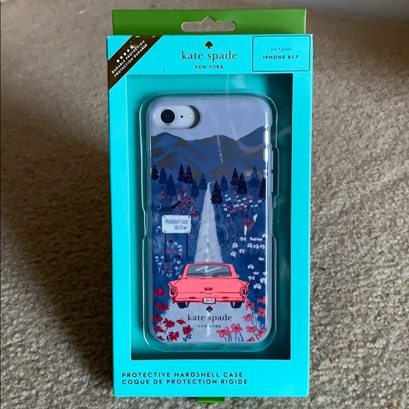 Kate Spade road scene protective case for iPhone